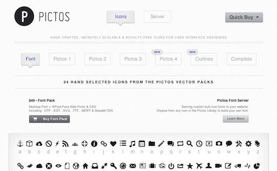Pictos Icon Font