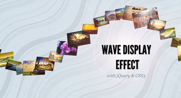 WAVE DISPLAY EFFECT WITH JQUERY