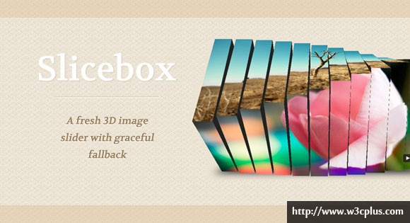 Slicebox – A fresh 3D image slider with graceful fallback